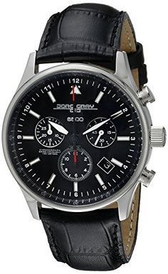 Men's Wrist Watches - Jorg Gray Mens JG650044 Analog Display Quartz Black Watch ** Want to know more, click on the image.