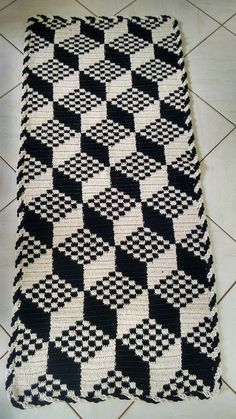 Black And White Seamless Pattern From No - Diy Crafts Crochet Rug Patterns, Crochet Motif, Diy Crochet, Crochet Designs, Crochet Doilies, Crochet Stitches, Knitting Patterns, Bargello Needlepoint, Broderie Bargello