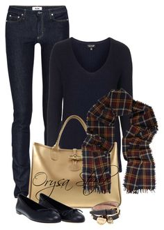 """""""Navy and Plaid"""" by orysa ❤ liked on Polyvore featuring Acne Studios, Topshop, Longchamp, Gucci, Étoile Isabel Marant and Alexander McQueen"""