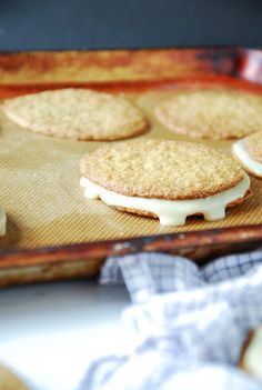 Maple Cream Sandwich Cookies--heartofabaker.com