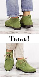 DKN 52 DENK Think 84010-59 Damen Schnür Booties grün mit helleren Kanten