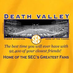 LSU Gold Friends in Death Valley. I have this t-shirt!