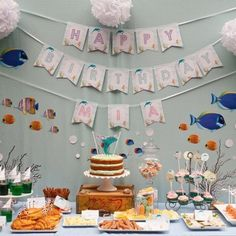 Dolphin Under the Sea Birthday Party