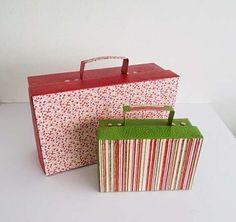 Reciclaje con cajas de zapatos: fotos ideas DIY - Hacer maletines con cajas de…