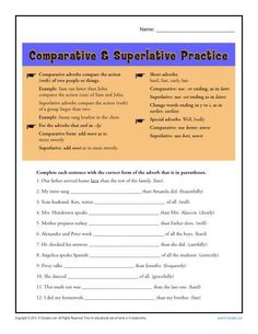 Distinguishing Fact From Opinion Worksheet Adverb Worksheet   Comparative  Superlative Adverbs  Adverbs  Free Algebra Worksheets Word with Relative Pronoun Worksheet Excel Comparative And Superlative Adverb Worksheets Active Vs Passive Voice Worksheet
