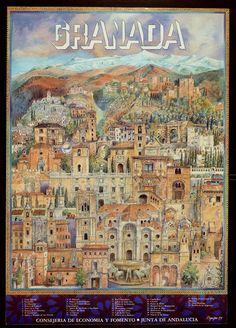 Publicidad turística. 1980. Granada, España.