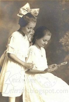 Antique Photo LITTLE GIRLS by KnickofTime.net