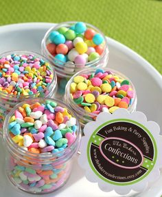 Pretty Pastel Sprinkle Kit  4 mini itty by thebakersconfections, $7.50