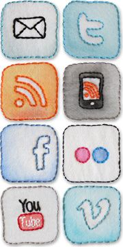 Embroidered Blog Icons by @Dana Beach for her blog Craftyminx.  Amazing.