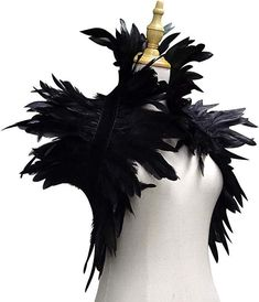 Black Feather Cape for Maleficent Raven Gatsby Edgar Allan Poe Crow or Steampunk Halloween Costume for Women Feather Shrug with Collar Maleficent Horns, Maleficent Costume, Maleficent Halloween, Raven Costume, Bird Costume, Medusa Costume, Costume Hats, Steampunk Halloween Costumes, Halloween Sewing