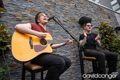 Patrick Stump and Andy Hurley (Fall Out Boy), Jackie and Bender Private Performance, Hard Rock Cafe, Seattle, WA. June 19, 2013. #Music