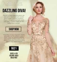 A sweet and sultry quarter sleeve dress thin bow belted gown. With an open sweetheart, filled with dramatic floral appliqué and inside embellished with different tones of gold beading, sequence, and round rhinestones throughout the front, open back, and then dazzles to the floor. Style#9621 Sizes:4-20 Colors: Gold, Red