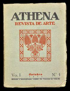 Athena, Revista de Arte. Revista dirigida por Fernando Pessoa e Ruy Vaz, da qual só saíram cinco números, entre outubro de 1924 e fevereiro de 1925. Surge no seguimento da linha de orientação do Orpheu, constituiu um símbolo do Modernismo português, devendo-se o seu interesse literário maioritariamente aos textos de Pessoa.