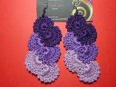Resultado de imagen para aros crochet con borlas