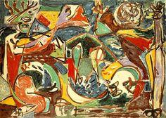 Jackson Pollock b. The Springs, New York Jackson + lee krasner's holiday card 1950 Paul Jackson Pollock. Action Painting, Jackson Pollock Art, Pollock Paintings, Art Paintings, Lee Krasner, Tachisme, Jasper Johns, Josef Albers, Jean Michel Basquiat