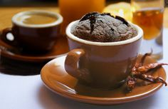"""If you like it hot and you're not afraid to walk on the wild side, you need to try Stephen's """"Fiery, Dark, Dangerous Chocolate Soufflé."""" It is to die for! Souffle Recipes, Chocolate Souffle, Dessert Recipes, Desserts, Food Gifts, Cocoa, Yummy Food, Homemade, Dishes"""