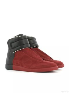 Mens and Womens Maison Martin Margiela Red Black Street Fashion and Brand Quality Shoes Big Size