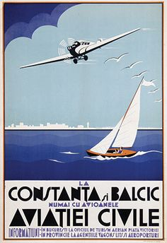 La Constanta si Balcic ~ Anonym Vintage Travel Posters, Vintage Ads, Ship Paintings, Vintage Graphic Design, Old Signs, Time Travel, Travel Europe, Belle Epoque, Illustrations Posters