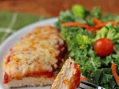 Crispy Chicken Parmesan | News Break Bbq Bacon, Italian Chicken, Red Sauce, Barbecue Chicken, Crispy Chicken, Roasted Vegetables, Cheese Recipes, Parmesan, Pasta Salad