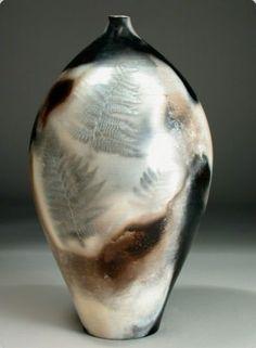 Smoke-fired pottery by Judy Blake Pottery