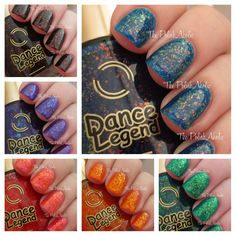The PolishAholic: Dance Legend Candy Flakes Collection Swatches