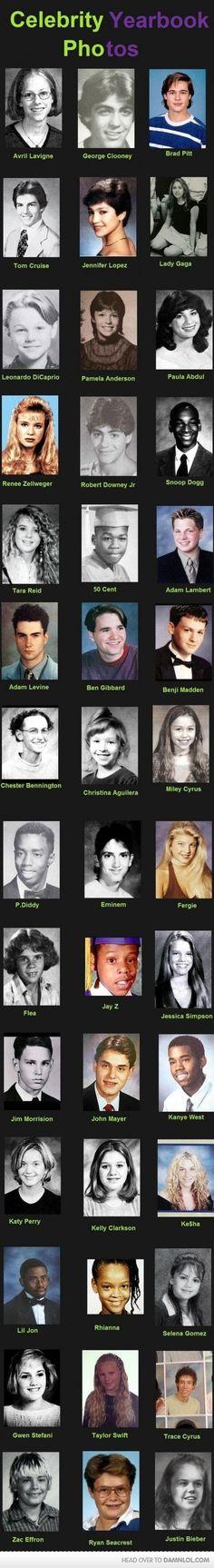 Celebrity Yearbook Photos