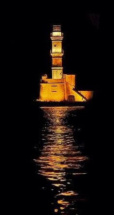 Chania Lighthouse - Crete, Greece