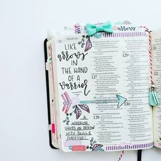 Bible Journaling by @elli.s_heart | Psalm 127:4