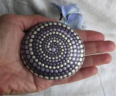 SPIRAL Wisdom STONE Hand Painted River Rock Energy
