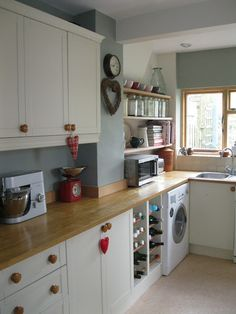 Modern Country Kitchen | Modern Country Style: Modern Country Kitchen Makeover... looks like a touch of the 80s   Love it