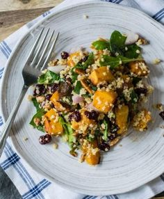 Who says you can't have butternut squash in Summer? Roasted Butternut Squash and Millet Salad is bright light & mouthwatering. Butternut Squash Cubes, Roasted Butternut Squash, Grain Foods, Seasonal Food, Healthy Salad Recipes, Vegan Recipes, Dinner Dishes, Vegetable Side Dishes, Good Food
