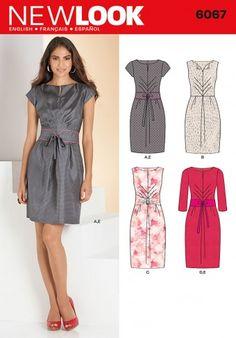 New Look 6067 jurk met ceintuur