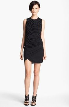 HELMUT Helmut Lang Kinetic Draped Jersey Dress Helmut Lang