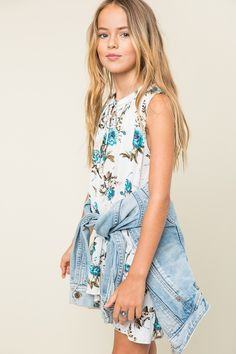 Tween High Low Floral Dress