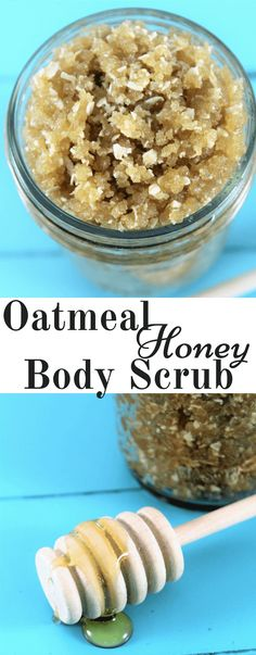 Skin Care Remedies Oatmeal Honey Body Scrub made at home. Skin care at home can both be inexpensive and effective. I love this oatmeal honey body scrub for its exfoliation power and simplicity. Body Scrub Recipe, Diy Body Scrub, Diy Scrub, Body Scrub Homemade, Exfoliating Body Scrub Diy, Homemade Skin Care, Diy Skin Care, Skin Care Tips, Homemade Beauty