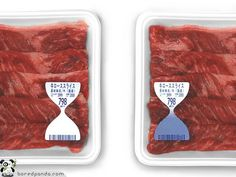 No more looking for best before dates. Label changes to blue when food goes bad. (By reacting to ammonia give off by food when its becoming spoilt)