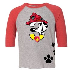 Custom PAW PATROL MARSHALL Inspired Birthday Number Shirt With Name On Back By ShirtTraveler Etsy