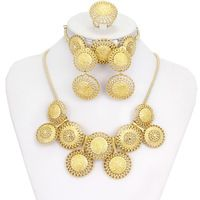 Gold-plated Jewelry Sets Personalized Round Women Gold Jewelry African Jewelry Fashion Jewelry Dubai