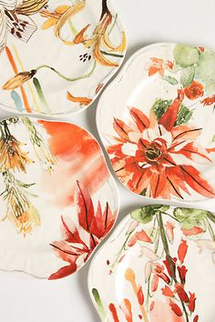 Meadowsweet salad plates from Anthropologie....happy birthday to me!