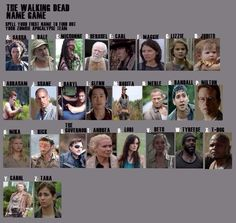 Got the dream team: Beth, Carl, Rick, Randall (he's going to get kicked out of group early), Merle, Abraham, Daryl & Sasha... well I hate my name but this is such a BADASS team