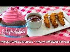 Como fazer tirinhas de frango super crocantes + molho Barbecue simples -...