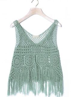 Love how its a knitted look with holes, and frayed edges! It could look really cute with a pair of white cutoffs!