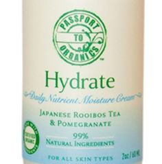 Organic Hydrate Daily Nutrient Moisturizer Face Cream with Pomegranate and Japanese Rooibos Tea - Paraben Free by Passport to Organics. $36.00. FREE Super Saver Shipping!  FREE Sample Size Toner Mist!  One out of our 6 toners to try!. Gentle enough for sensitive skin. Fast absorbing organic face cream -  unscented with Pomegranate and Japanese Rooibos tea. Made with certified organic ingredients - Paraben Free - Sulfate Free (SLS free) - Phthalate Free - No artific...