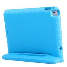 For+iPad+Air+2+/+iPad+6+Blue+EVA+Bumper+Protective+Case+with+Handle+&+Holder