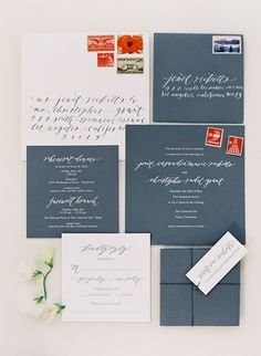 Poppy Red and Blue Wedding Invitation | Jose Villa Photography | See More! http://heyweddinglady.com/patriotic-red-white-blue-french-country-twist/