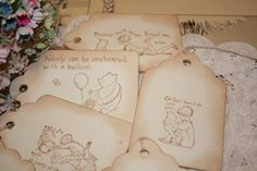 Pooh Gift Tags by ShabbyPeaDesigns on Etsy