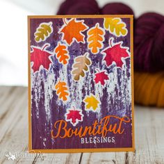 Throwback Thursday: Brushed Off - Bountiful Blessings Card by Betsy Veldman for Papertrey Ink (September 2017)