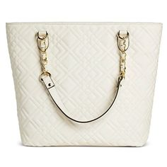 Women's Solid Quilted Tote Handbag White - Merona™