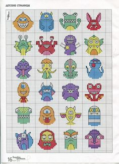 crossstitch, monster cross, cross stitches, embroideri