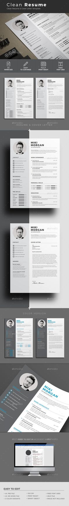 3 Different style modern #resume template, these Clean Resume - different resume templates